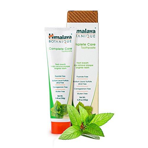 Himalaya Botanique Toothpaste - Natürliche Zahnpasta ohne Fluorid, SLS, Gluten & Carrageenan - Entfernt Plaque, Mundgeruch, verhindert Karies und Zahnfleischbluten (Simply PEPPERMINT, 1-Pack)