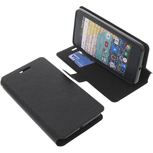 foto-kontor Tasche für Archos 45b Neon Book Style schwarz Schutz Hülle Buch