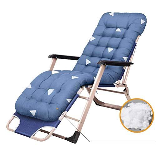 Mecedora reclinable Plegable para jardín Tumbona Ajustable Asiento de Gravedad Cero para Patio al Aire Libre Mesa de jardín Césped Silla de Camping Relajante 200 kg (Color: Azul Claro)