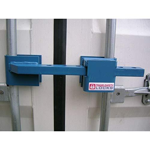 Containerschloss Basis aus gehärtetem Stahl, montagefrei, Diebstahlschutz, inklusive Bügelschloss