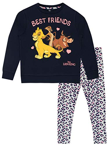 Disney Sudadera y Leggings para niñas The Lion King Rey León Multicolor 5-6 Años