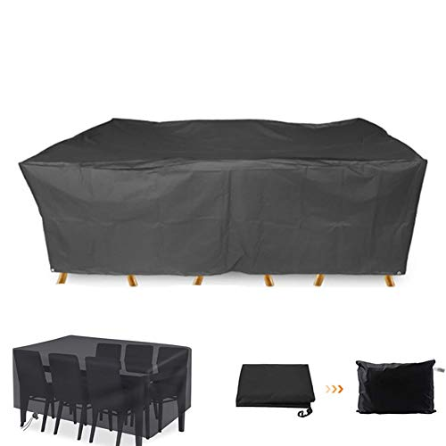 XGG Garden Furniture Covers Rectangular Patio Furniture Cover Waterproof UV Resistant for Furniture Protection Rattan Furniture Cover Multi-Size for Garden Furniture127.95 * 81.89 * 22.84in