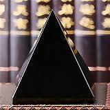 dfsda Pirámide De Obsidiana, Generador De Energía De Pirámide De Cristal De Obsidiana Negra Natural, Figuras De Energía De Cristal Curativo, Estatua De Pirámide para Decoración De Oficina En Casa