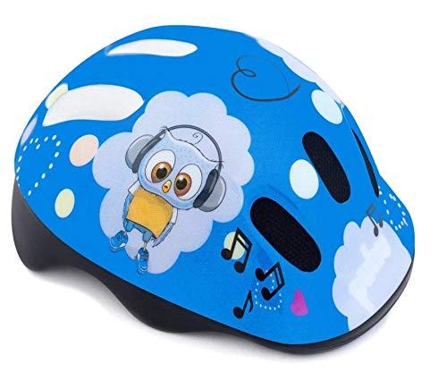 Spokey Fahrradhelm Kinder Schutzhelm mit integriertem Visier | Kinderfahrradhelm Belüftungsöffnungen | verstellbare Größe | Kopfumfang 44-48cm 49-56cm (PUHU, 44-48)