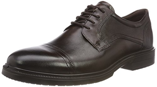 ECCO Lisbon, Scarpe Stringate Derby Uomo, Brown (Cocoa Brown 1482), 45 EU