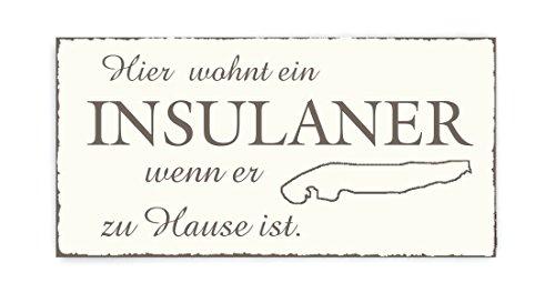 TÜRSCHILD Dekoschild « INSEL NORDERNEY » Vintage Holzschild Schild Urlaub Ferien Friesland Nordsee
