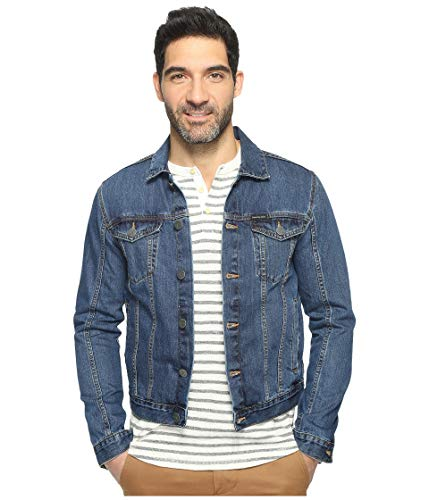 Calvin Klein Men's Denim Trucker Jacket, Medium, XX-Small