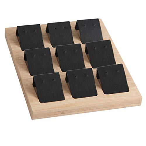 Bonarty 9 Pares de Tarjetas de Exhibición de Pendientes Pendientes Tarjeta de Soporte de Tachuelas, 7.87x6.3 Pulgadas, 3 Colores Disponibles - 9 Pares de Negro, 20 x 16 cm