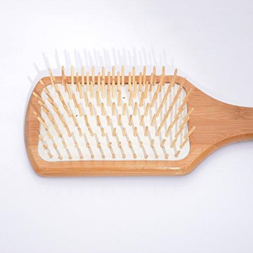 Nouvelle Arrivée Place Poignée Professionnel En Bambou Naturel Bois Brosse À Cheveux Peigne Tête Du Cuir Chevelu Massage Soins