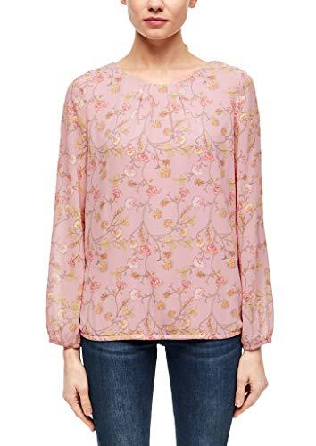 s.Oliver BLACK LABEL Damen 150.10.002.10.100.2014974 Bluse, pink AOP, 42