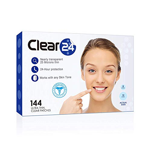 Clear24 Ultra Thin Pimple and Blemish Cover Patch - Ideal for Day Use, 144 Patches