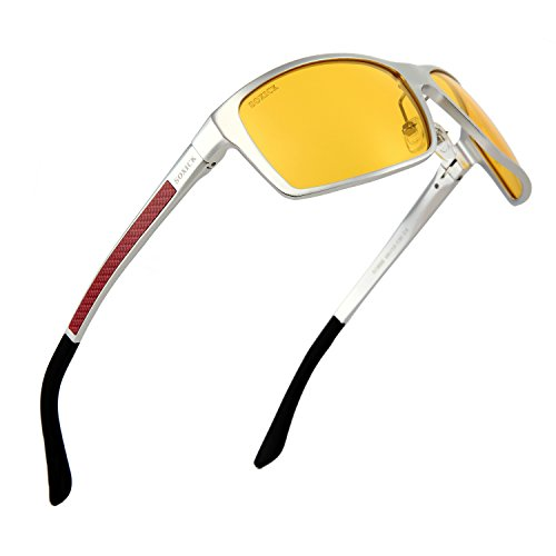 SOXICK Night Driving Glasses - 2020 Upgraded Polarized Anti Glare HD Night Vision Glasses