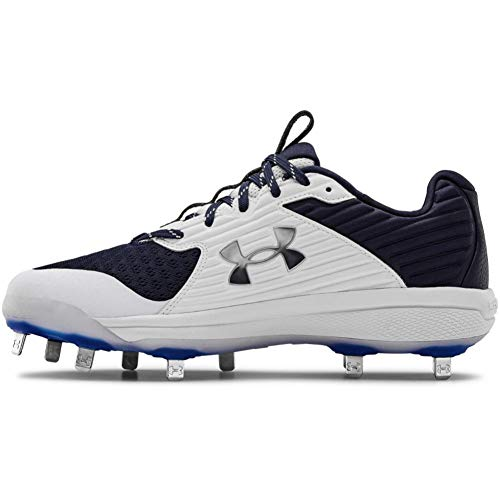 Under Armour Men's Yard MT Baseball Shoe, Midnight Navy (401)/White, 9.5