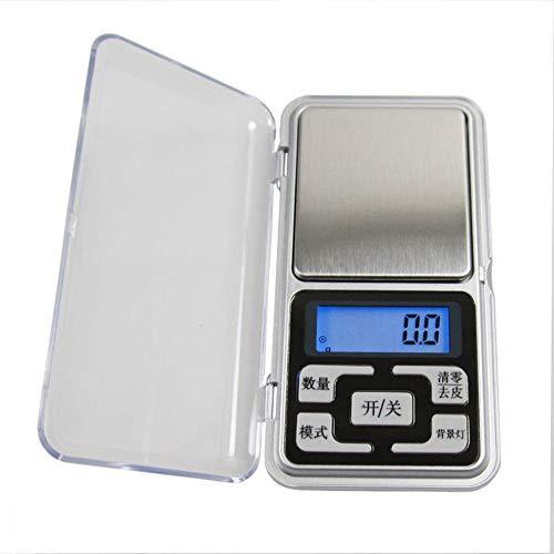 Échelles Électroniques Ménagères Haute Précision Échelle de Bijoux Mini Poche Appelée Portable Palm Balances 0.01G - Argent 200g / 0.01g version chinoise