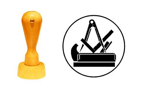 Stempel Holzstempel Motivstempel « TISCHLER SCHREINER Zunftzeichen »