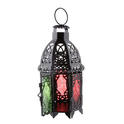 Chandelier de Bougie qvec le Style Marocain en Métal Votive Porte Lanterne