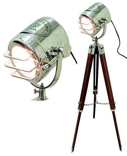 Hermosa lámpara de pie para decoración del hogar, diseño vintage, lámpara de trípode, luz de teatro