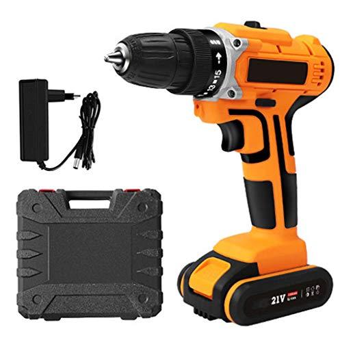 ZCFXGHH Drill 21V Cordless cacciavite Elettrico Impact Drill Batteria al Litio Ricaricabile Impermeabile a Mano Trapano Elettrico elettrodomestici Dril
