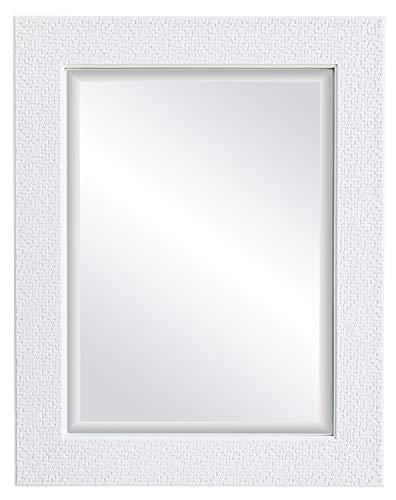 oruii White Decorative Wall Mirror, 22x28 inch Mosaic Framed Bathroom Mirror, Rectangular -
