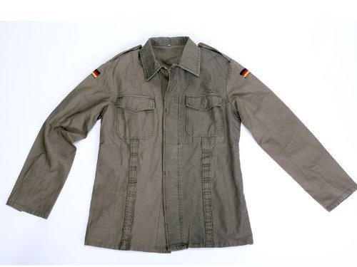 Fratelliditalia Soldatenhemd für Herren, Moleskin, Deutsch, Baumwolle, Taschen, Knöpfe und Schultern