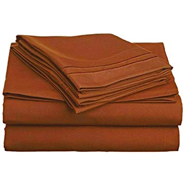 1800 Thread Count Egyptian Bed Sheets, Deep Pocket. Reg. 129.95. Sale 39.95. Softest High Thread Count Sheets (Queen, Terra Cotta)