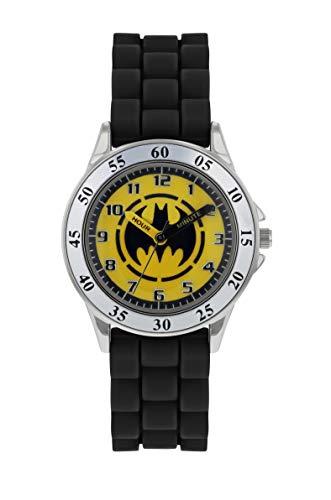 Batman Jungen Analog Quarz Uhr mit Gummi Armband BAT9522