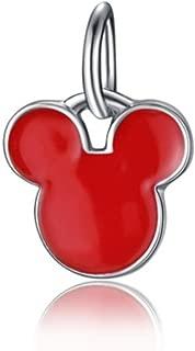 J&M Dangle Red Mouse Head Charm for Bracelets
