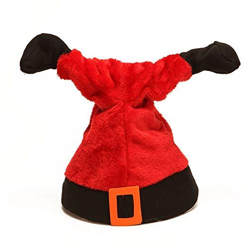 Crazyfly Weihnachtselemente, elektrische Mütze, singende Hüte mit Musik, niedliches Weihnachts-Plüsch-Spielzeug, geeignet für Party