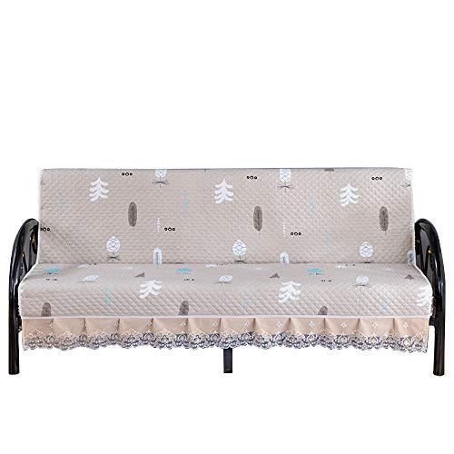 C/N Fundas de sofá sin Brazos Funda de sofá Cama Acolchada Funda de futón Plegable Funda de sofá Clic clac Antideslizante