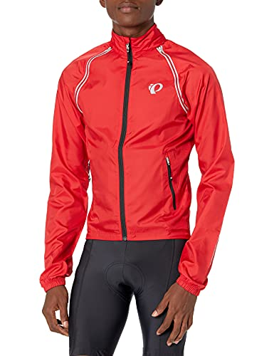 PEARL IZUMI Men's Ride Elite Barrier Convertible Jacket, True Red, Small