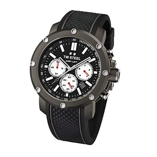 TW Steel Unisex Erwachsene Chronograph Quarz Uhr mit Silikon Armband TS12