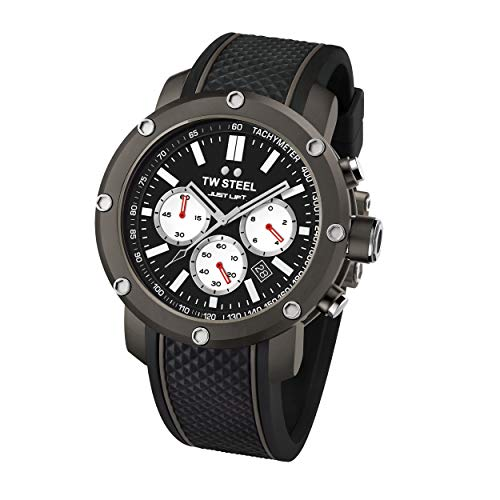 TW Steel Unisex volwassenen chronograaf kwarts horloge met siliconen armband TS12