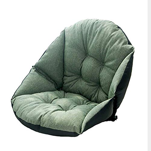 Cotton Linen Thick Seat Cushion,anti-slip Chiair Cushion Warm Soft With Strapes Seat Pillow For Car Office Wheelchair For Hip Back Relief Pain-green 55x45cm(22x18inch)