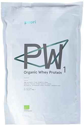 PW1 Organic Whey Protein Shake - Eiweiß Pulver für Schneller Muskelaufbau | 100% Bio Mass Gainer | Pre Workout Fitness Booster Drink | 900gr/30 Tage