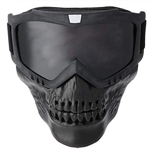 Tbest Gafas Motocross, Gafas de Ciclismo de Casco Desmontables Gafas de Esquí Gafas de Carreras para Mujeres y Hombres para Snowboard Motocicleta Moto (Negro)