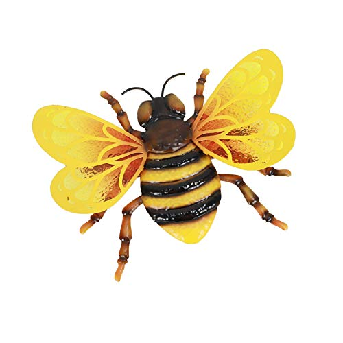 Metal Bee Garden Wall Decor, Metal Bee Wall Art Inspirational Wall Decor Hanging For Indoor and Outdoor, Decoration For Living Room