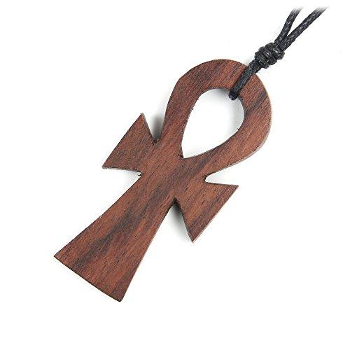 Drachensilber Ankh Schmuck Anhänger Holz Anch Kette Holzschmuck Henkelkreuz ägyptischer Kettenanhänger