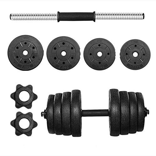BESPORTBLE Set di Manubri Regolabili con Barra Bilanciere Extra, Antiscivolo Manubri Fitness Set 30 kg