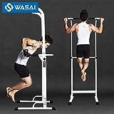 WASAI(ワサイ) ぶら下がり健康器 懸垂マシン【組立簡単/コンパクト】懸垂 器具 チンニングスタンド けんすいマシーン 筋トレーニング (3色) (30W白)