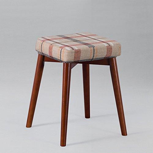 CJH eenvoudige hoge kruk huiselijke woonkamer dressing tafel massief hout vierkante stoel doek kussen
