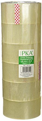 PKA 16114 - Torre de precinto manual, 48 mm x 66 m, 6 unidades, color transparente