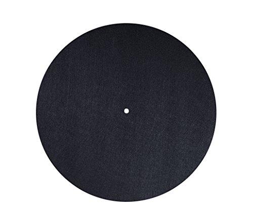 Dynavox Plattenteller-Auflage PM2 für Plattenspieler, antistatischer Filz, 30 cm Durchmesser, Schwarz