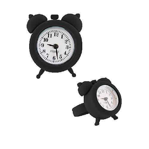Pylones Ring Uhr / Uhr – Nano Watch, Schwarz