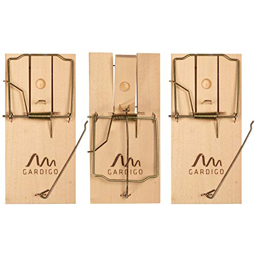 Gardigo Rattenfalle aus Holz 3er Set I Schlagfalle wiederverwendbar - 3 Stück I Effektive Falle für Haus und Garten