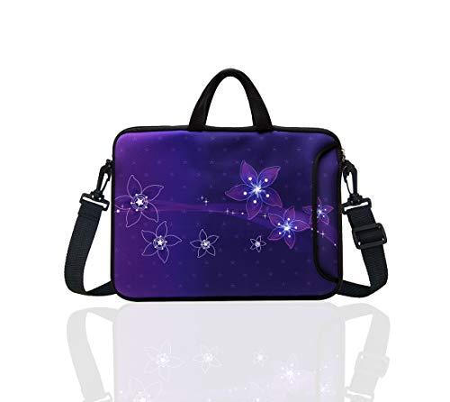 "10-Inch Neoprene Laptop Tablet Shoulder Messenger Bag Case Sleeve for 9.7 10 10.1 10.5"" Inch Netbook/Ipad Pro/Air (Purple Star)"