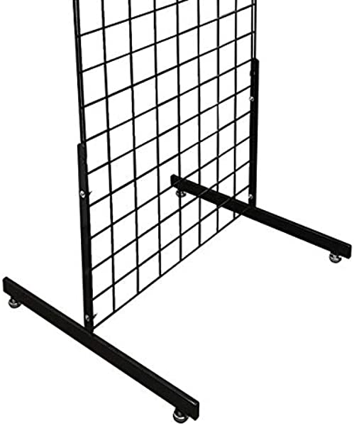 T Shape Gridwall Panel Legs Display With Levelers Box Of 3 Pairs 6 Individual Legs Black Work With All Standard Grid Or Slatgrid Panels