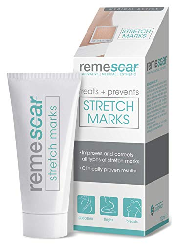 Remescar - Traitement anti-vergetures - Crème anti-vergetures - Crème d'atténuation et de prévention des vergetures à l'efficacité cliniquement prouvée pour les cuisses, la poitrine et plus