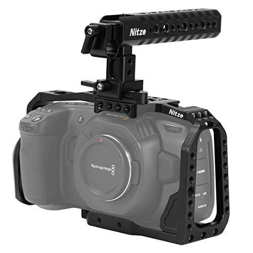 Nitze Blackmagic Pocket Cinema Camera 4K用BMPCCカメラ専用ケージ NATOトップハンドル付 BHT01