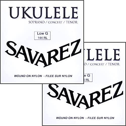 サバレス ウクレレ弦 LOW-G弦バラ ソプラノ・コンサート・テナーウクレレに対応 SAVAREZ 144RL Low-G- Ukulele Wound Strings (2本)