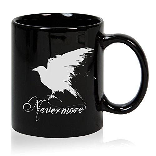 Tasse mug Petit-déjeuner de céramique noire 32 cl. modèle Edgar Allan Poe